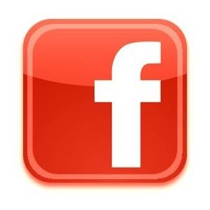 logo facebook red